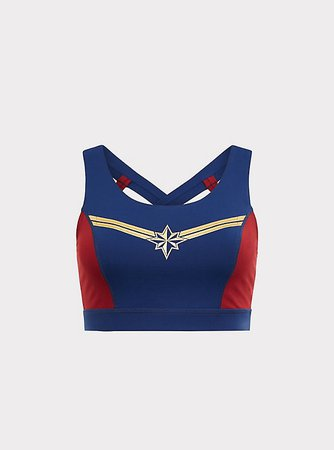 captain marvel sports bra - Google Search