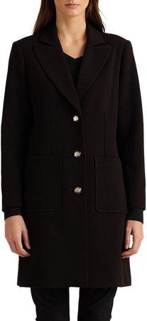 Longline Crepe Blazer Coat