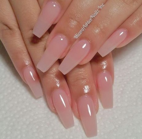 Translucent Pink Nails