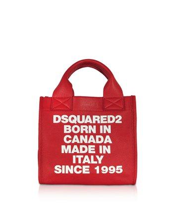 Dsquared2 Signature Leather Small Tote Bag