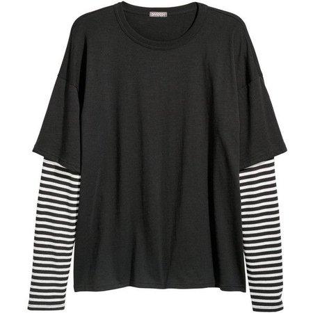 striped shirt w/ layer