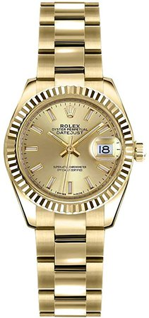 Amazon.com: Rolex Lady-Datejust 26 Yellow Gold Women's Luxury Watch 179178: Watches