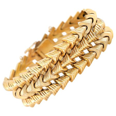 Arrows Gold Bracelet For Sale at 1stDibs