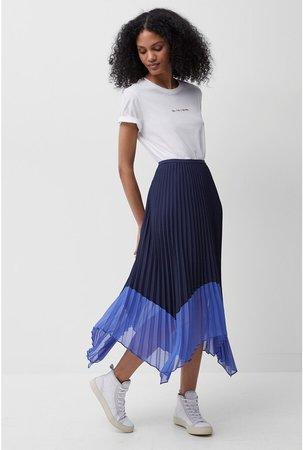 Ali Pleated Midi Skirt