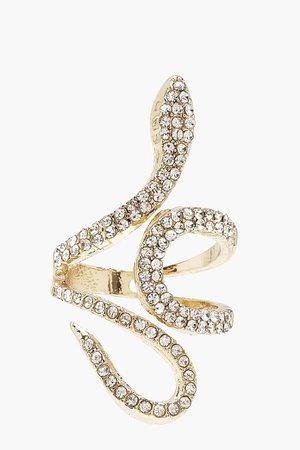Diamante Statement Ring | Boohoo