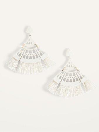 Filigree Tassel Drop Earrings for Women | Old Navy