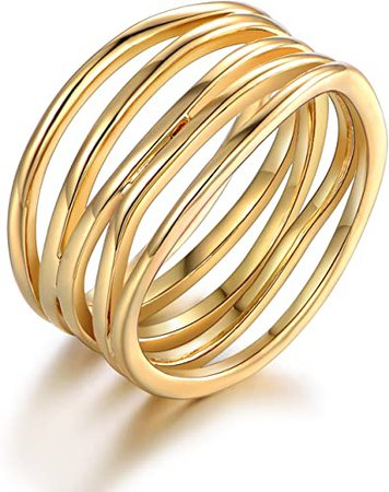 Amazon.com: Barzel Gold, Rose Gold & White Gold Plated Statement Ring: Jewelry