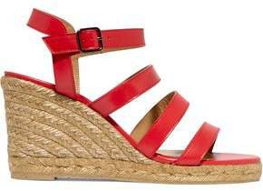 Bayna Leather Espadrille Wedge Sandals