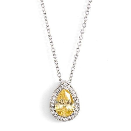 Yellow 'Canary' Diamond Necklace