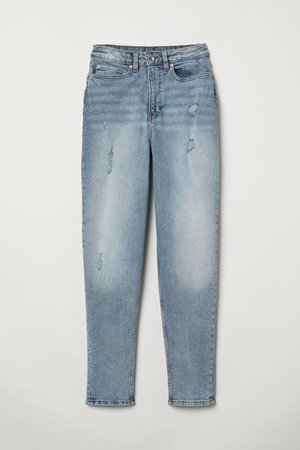 Mom Jeans - Light denim blue - Ladies | H&M US