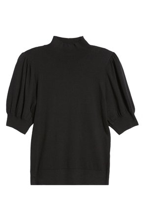 Halogen® Mock Neck Puff Shoulder Sweater | Nordstrom