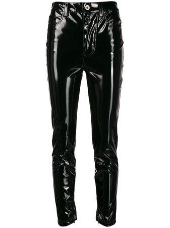Unravel Project Shiny-Effect Skinny Trousers UWCA005E190670011000 Black | Farfetch