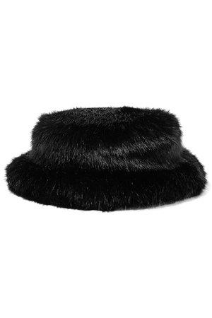 Emma Brewin   Faux fur bucket hat   NET-A-PORTER.COM