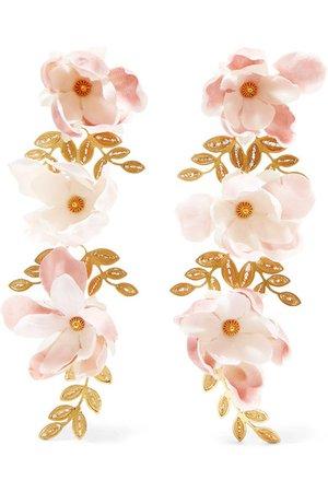 Mallarino | Gaby gold vermeil and silk earrings | NET-A-PORTER.COM