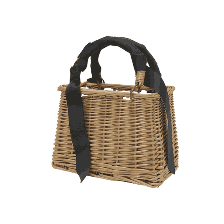 Woven Basket Handbag   STYLENANDA