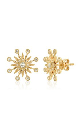 Baby Starburst 18K Yellow-Gold Diamond Stud Earrings by Colette Jewelry | Moda Operandi
