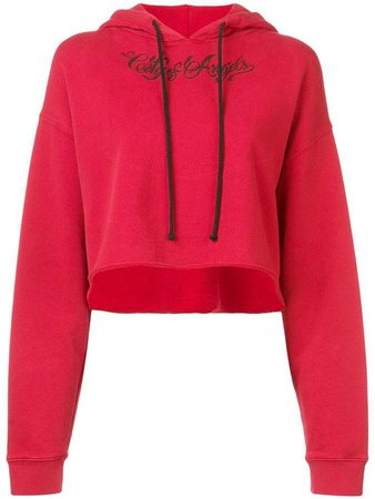 Adaptation cropped hoodie