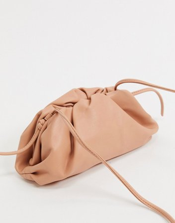Steve Madden Necture slouchy clutch bag in tan | ASOS