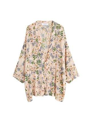 Violeta BY MANGO Floral print kimono