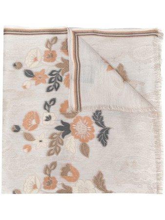 Etro Foulard floral scarf