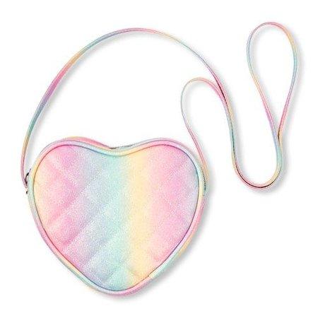 Rainbow Glitter Heart Bag