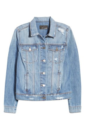 Articles of Society Taylor Distressed Denim Jacket blue