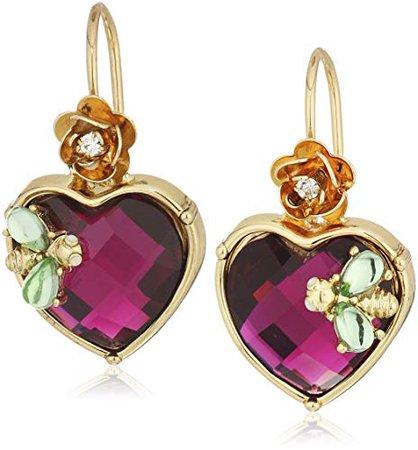 Betsey Johnson Stone Heart Drop Earrings: Jewelry