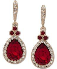 red and gold earrings - Google Search