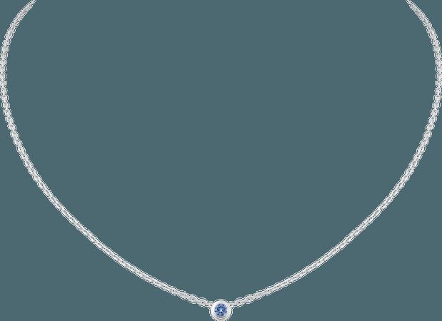 CRB7224300 - Saphirs Légers de Cartier necklace - White gold, blue sapphire - Cartier