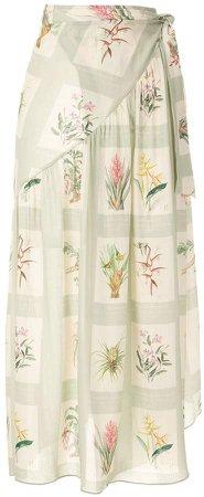 printed beach skirt