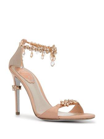 crystal-embellished Stiletto Sandals