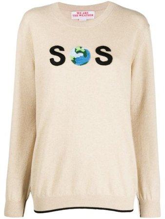 Stella Mccartney Sos Embroidered Jumper 600279S2177 Neutral | Farfetch