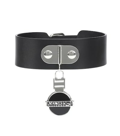 Georgian Logo leather choker