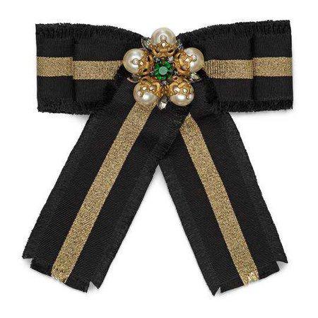 Web grosgrain bow brooch - Gucci Fashion Jewelry For Women 504379I39648522