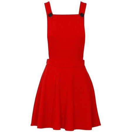 Red Overall Skirt