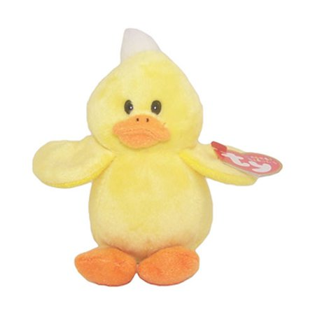 TY Basket Beanie Baby - PUDDLES the Duck (4 inch): BBToyStore.com - Toys, Plush, Trading Cards, Action Figures & Games online retail store shop sale