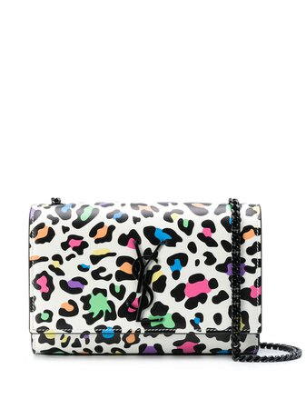 Saint Laurent Small Kate leopard-print Shoulder Bag