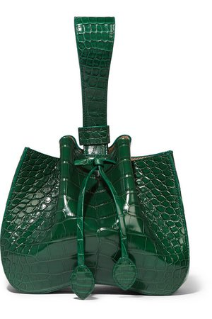 Alaïa | Alligator bucket bag | NET-A-PORTER.COM