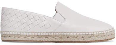 Intrecciato Leather Espadrilles - White