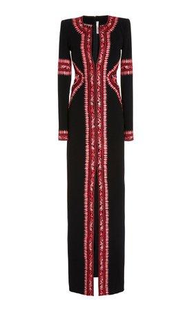 Embroidered Crepe Gown by Naeem Khan | Moda Operandi