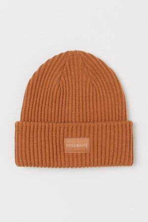Rib-knit Hat - Light brown - Ladies | H&M US
