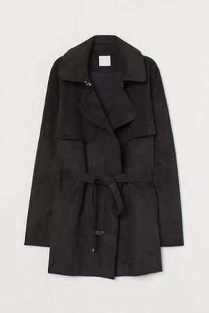 Short Trenchcoat - Black - Ladies | H&M US