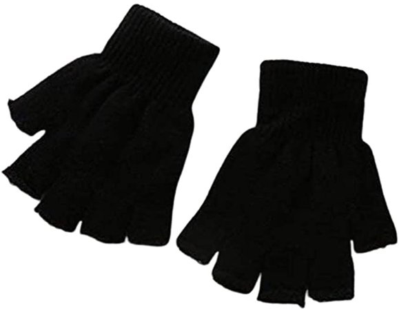 8 Pairs Fingerless Knit Magic Gloves Stretchy Warm Gloves Winter Gloves One Size Fits All at Amazon Women's Clothing store