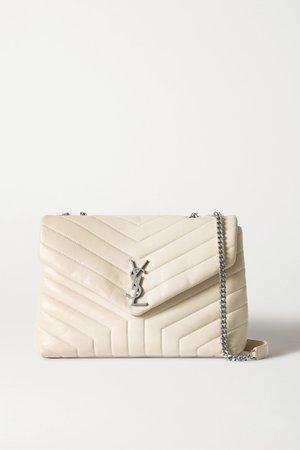 Off-white Loulou medium quilted leather shoulder bag | SAINT LAURENT | NET-A-PORTER