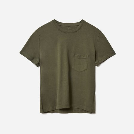 Women's Organic Cotton Box-Cut Pocket Tee | Everlane green