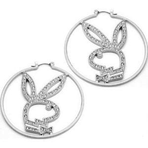 playboy bunny earrings png