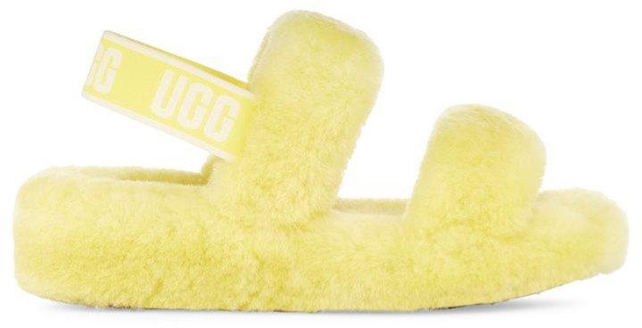 Oh Yeah Sheepskin Slingback Slippers
