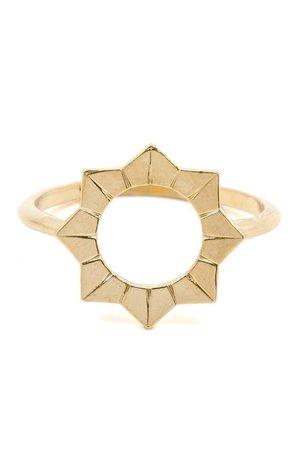 Gold Sun Burst Ring