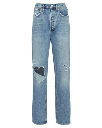 AGOLDE Fitted 90s Straight-Leg Jeans | INTERMIX®