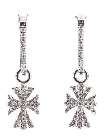 Metallic Elise Dray diamond cross earrings - Farfetch